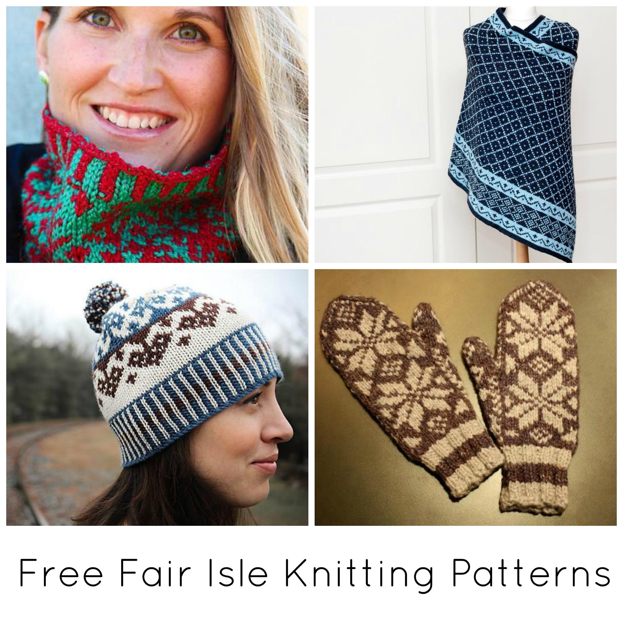 10 Free Fair Isle Knitting Patterns On Bluprint