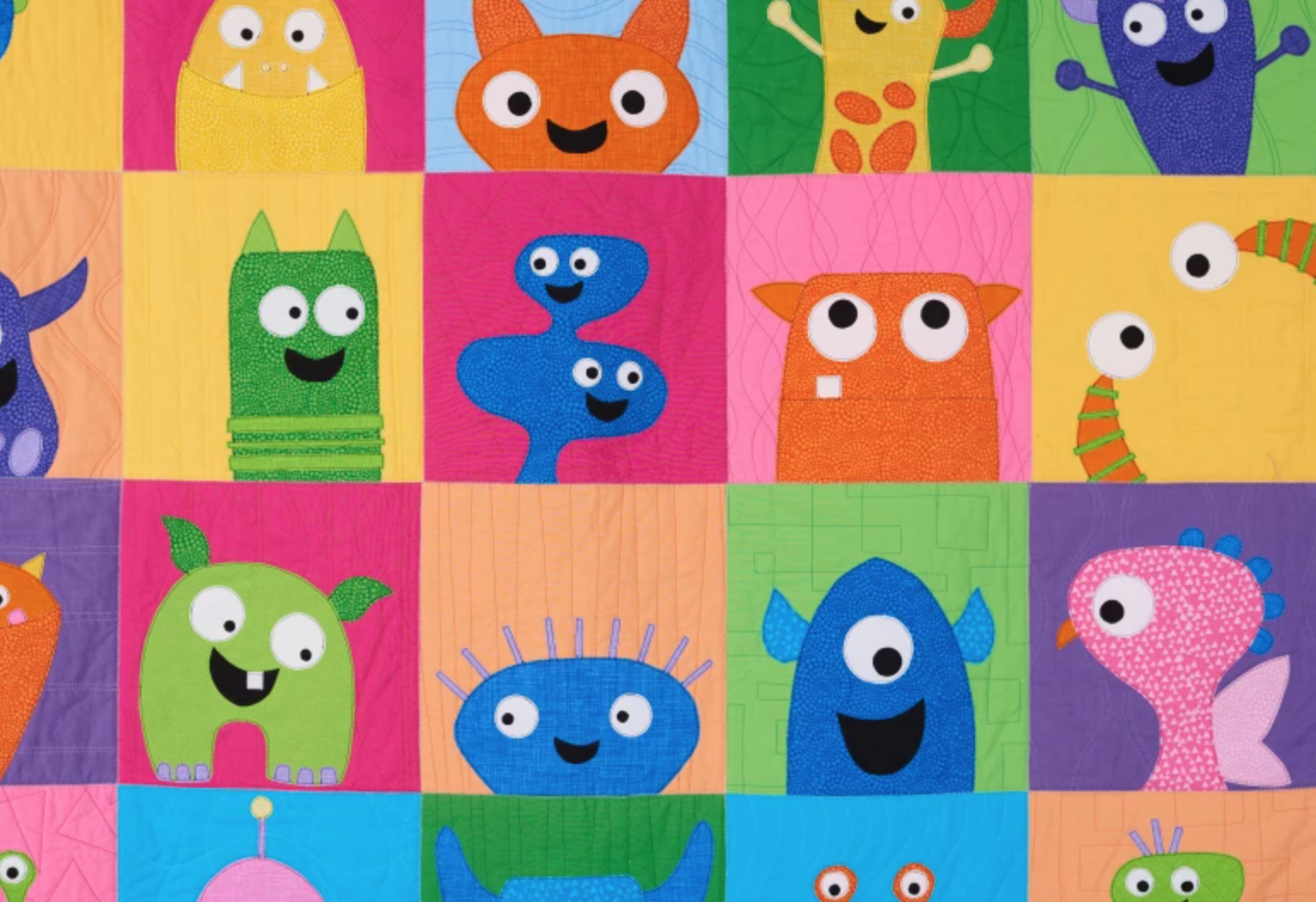 silly monster quilt
