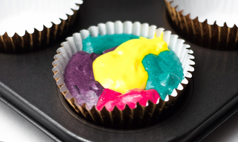 rainbow cupcake batter