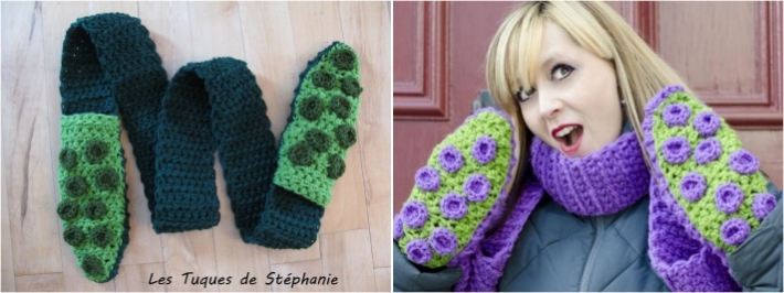 Octopus Scarf Mittens