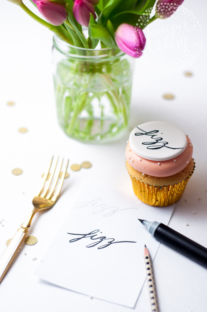writing calligraphy for cake