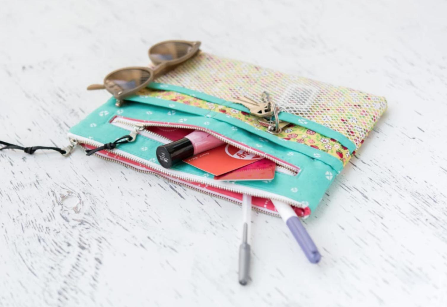 sewn makeup bag