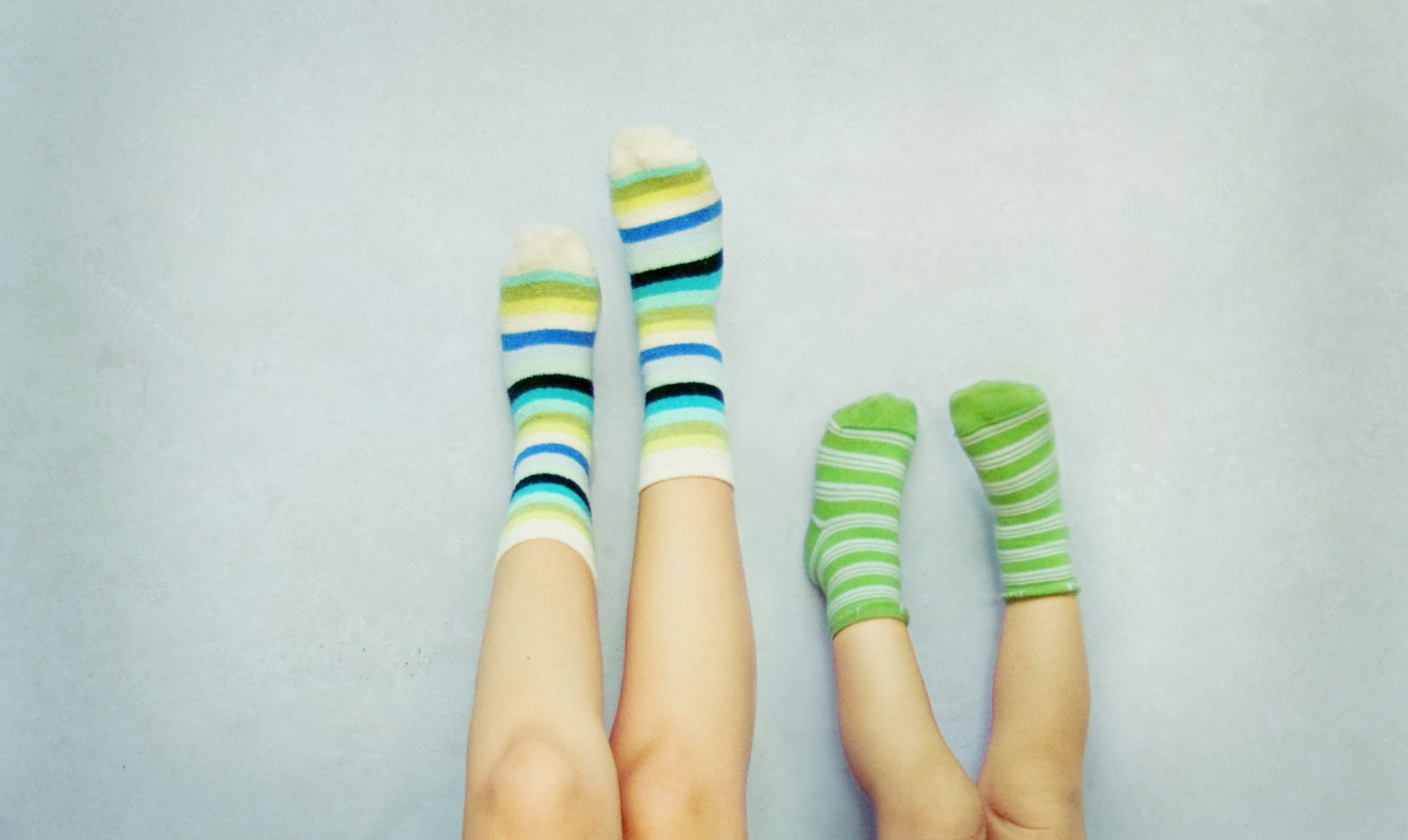wearing socks
