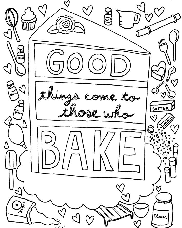 - FREE Coloring Book Page Designed Just For Cake Decorators