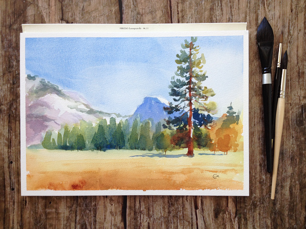 5 Responses To Quot Create A Watercolor Landscape Painting In 5 Easy Quot