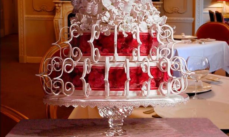 fancy scroll cake