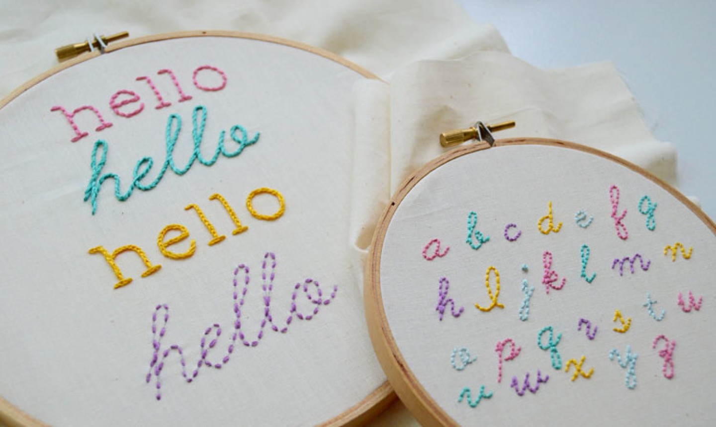 Learn How To Embroider Letters On Bluprint