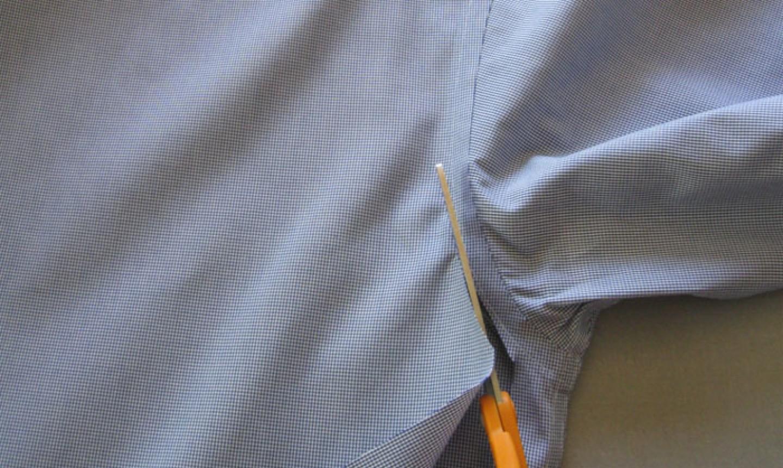 cut shirt seams