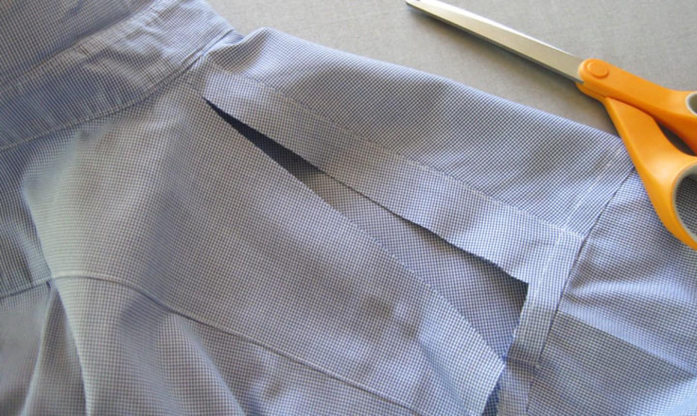 cut shirt shoulder line