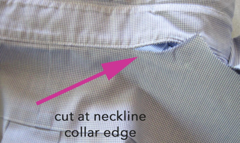 cut shirt neckline