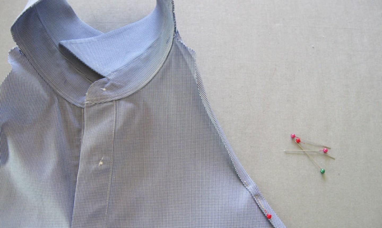 pinning shirt for hem