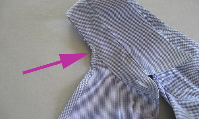 stitching apron collar