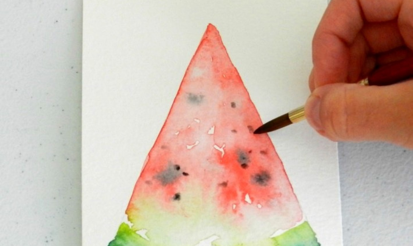painting watermelon seeds