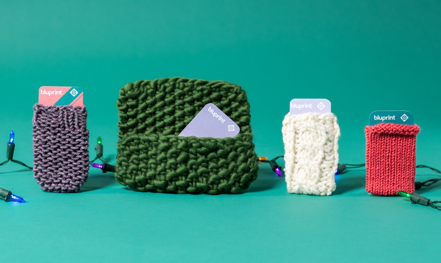 knitted gift card holders