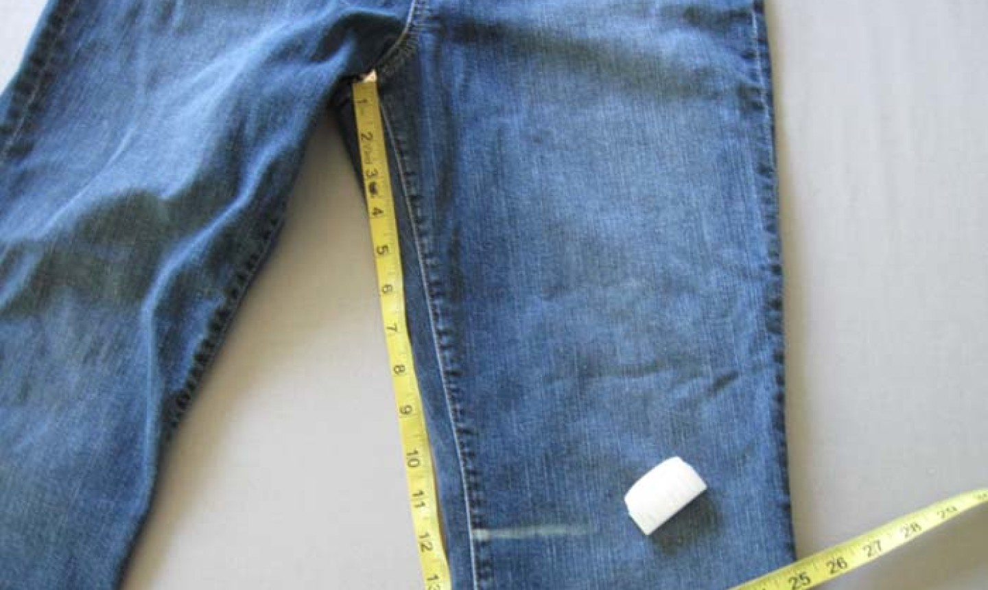 measuring jeans for diy shorts
