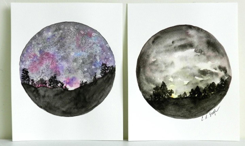 two night sky paintings