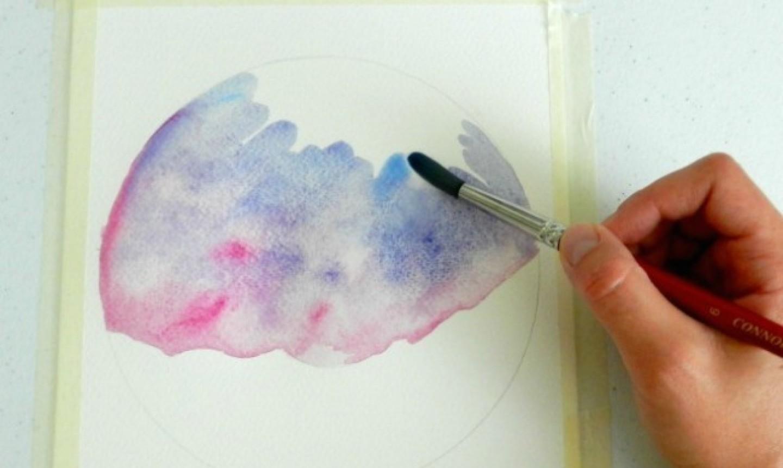 watercolor painting circle
