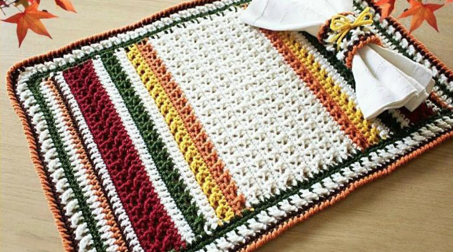 crochet thanksgiving placemat