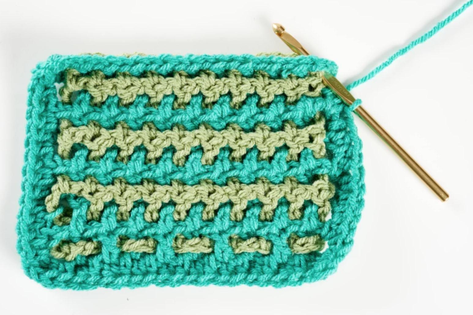 interwoven crochet stitch