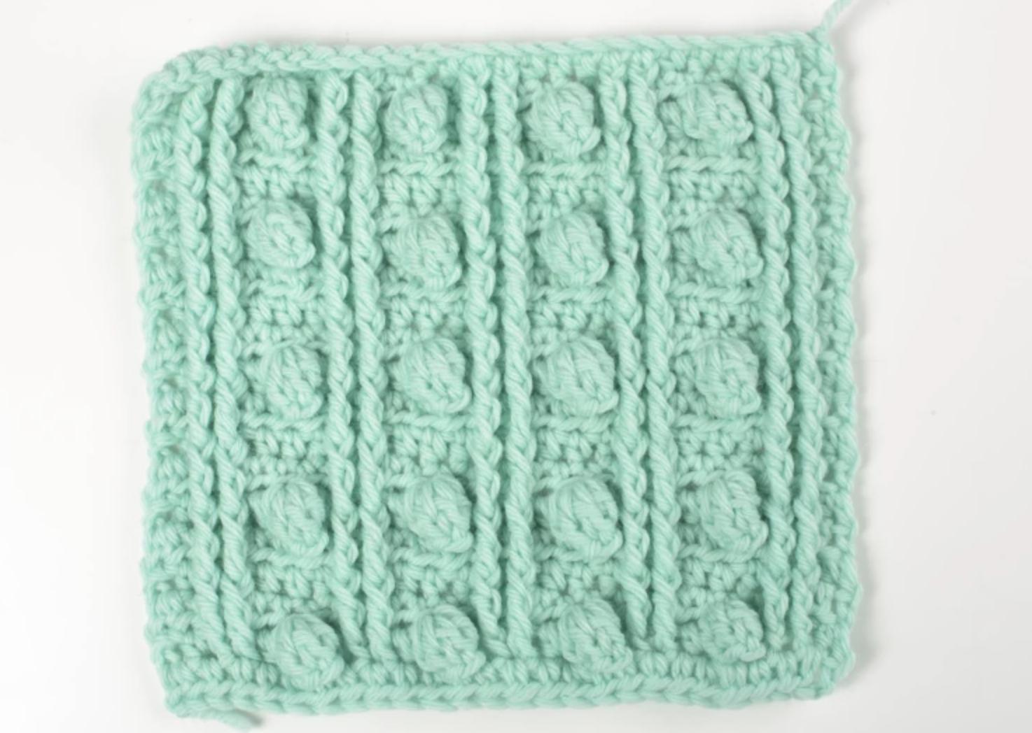 popcorn crochet stitch