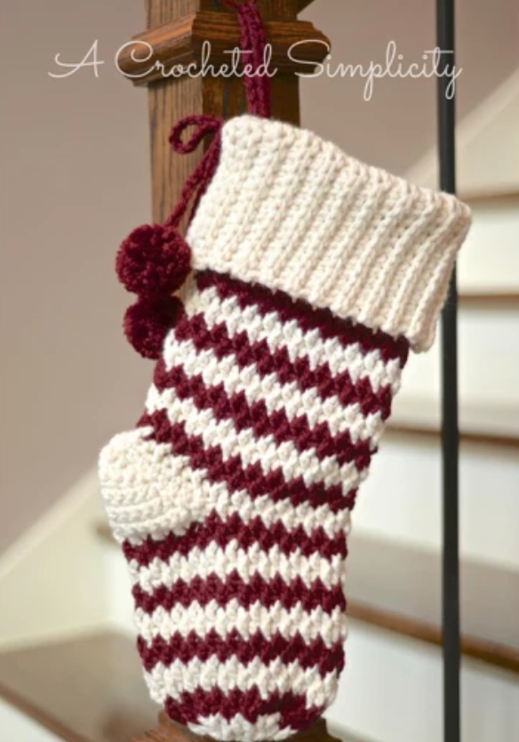 striped crochet stocking