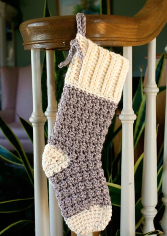 crochet Cozy Cottage Stocking