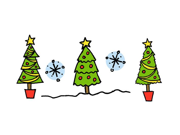 christmas tree drawings