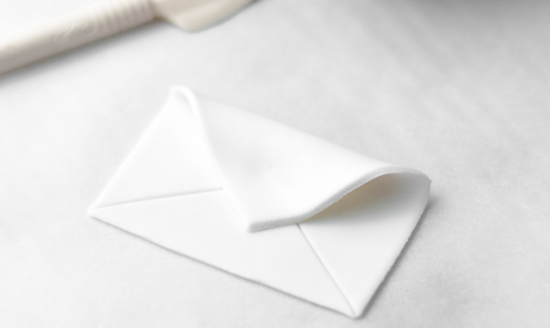 folding fondant envelope