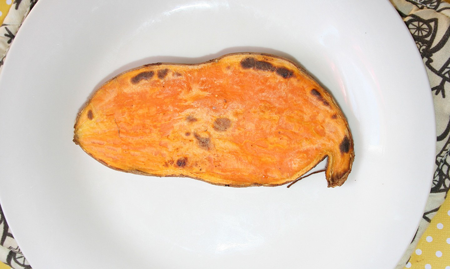 toasted sweet potato slice