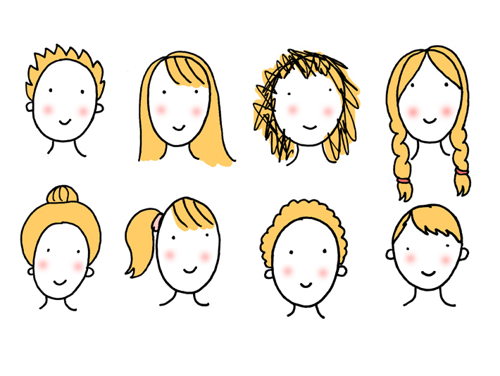 8 Fun Easy To Draw Cartoon Hairstyles For Your Characters