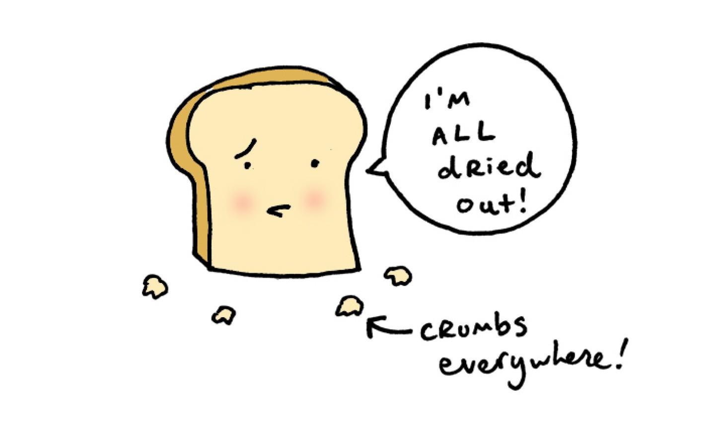 Slide of bread cartoon