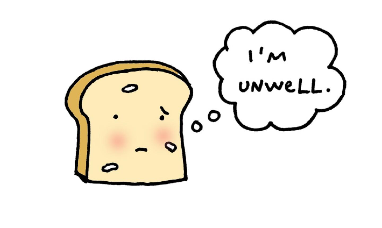 Cartoon bread slice