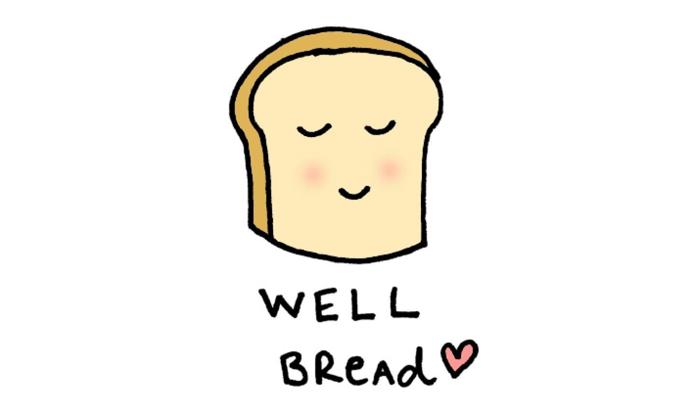Slice of bread cartoon