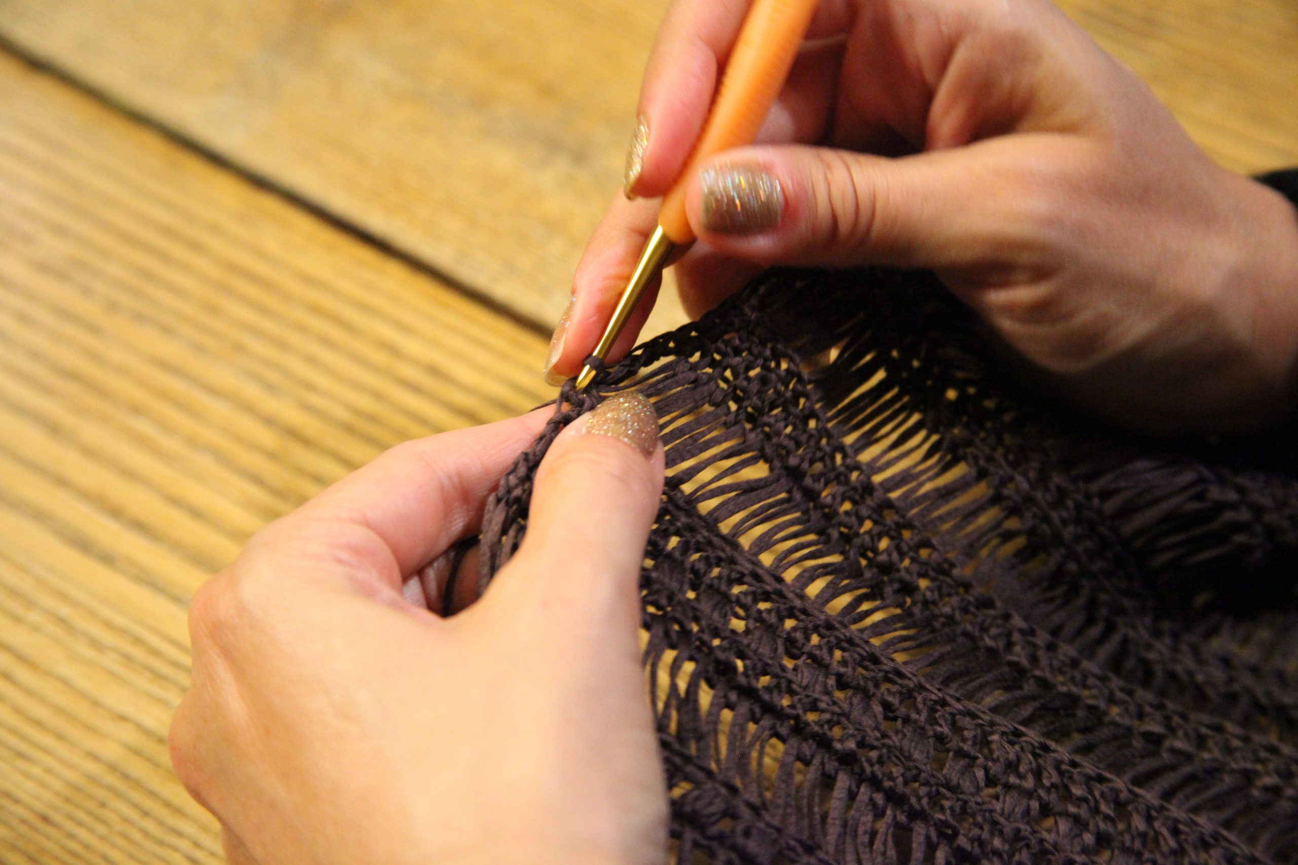 Broomstick lace project