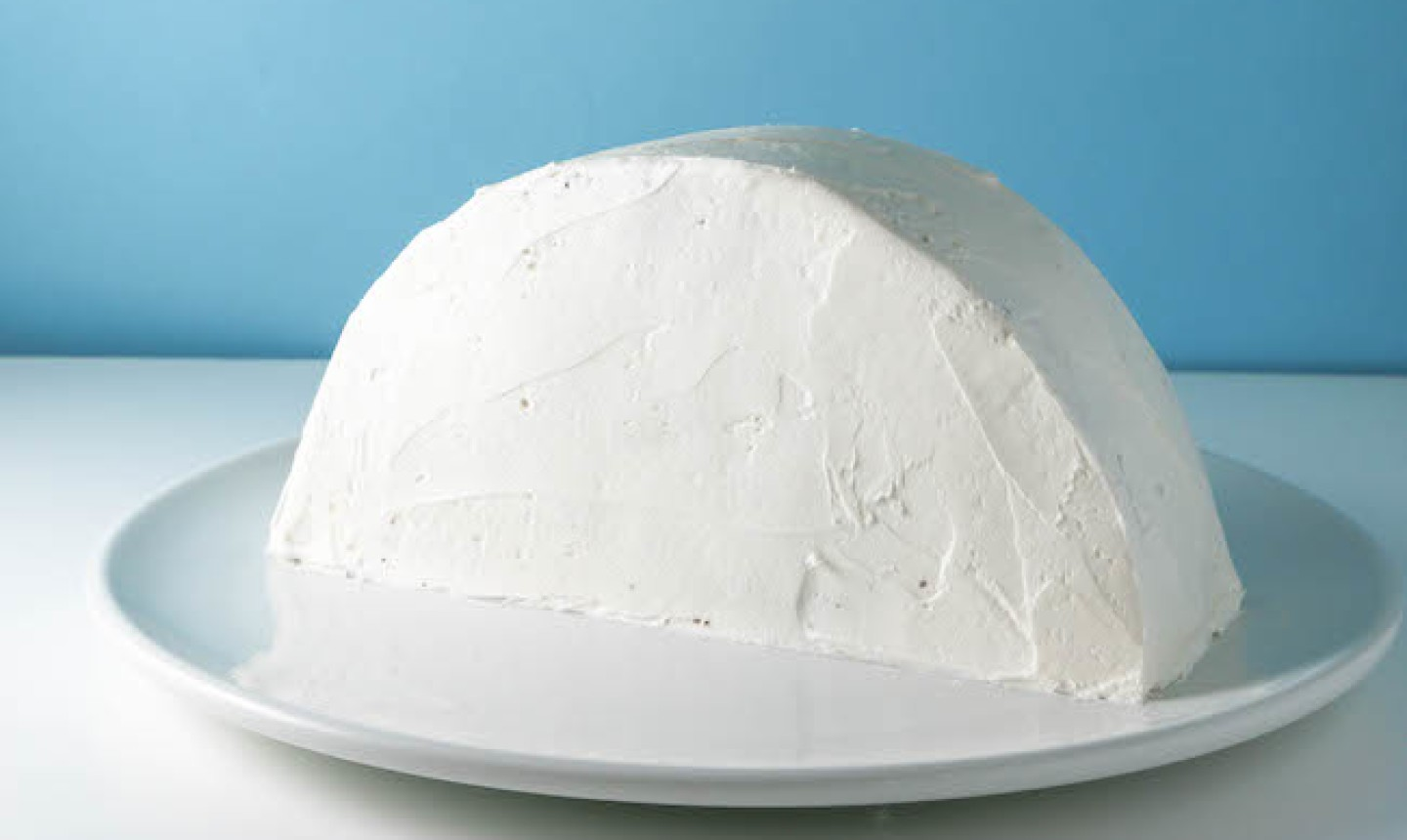 standing frosted cake