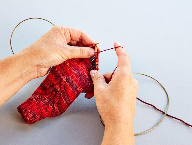 knitting magic loop sock