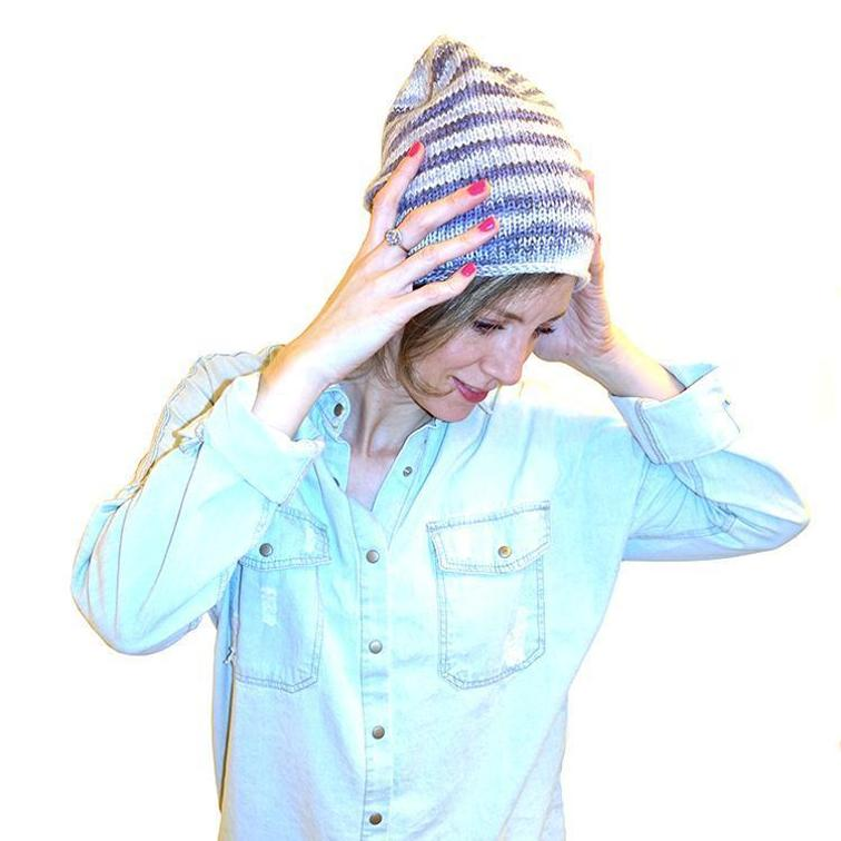 simple in the round knit hat