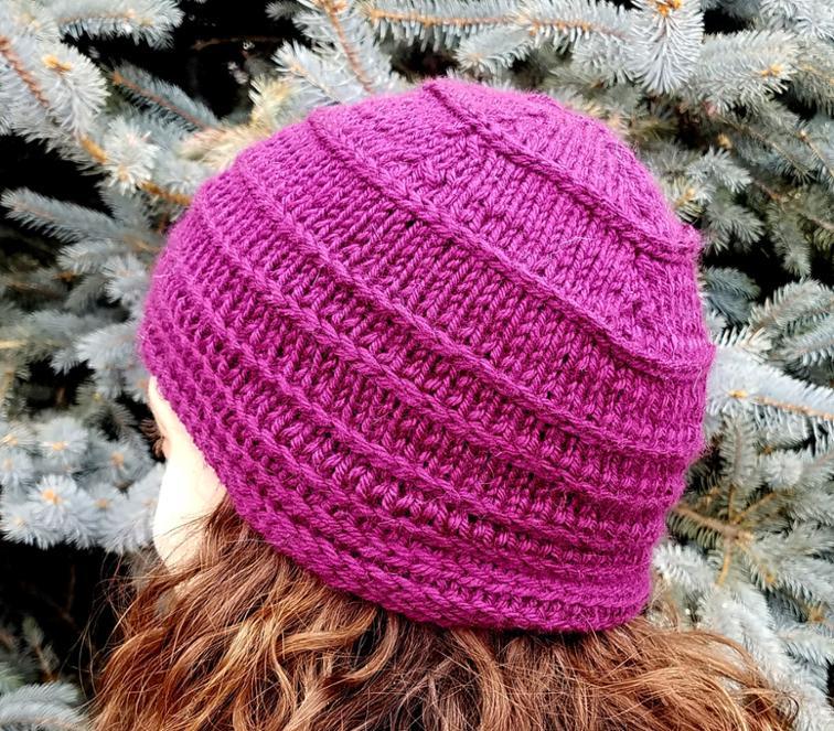 braided knit cap