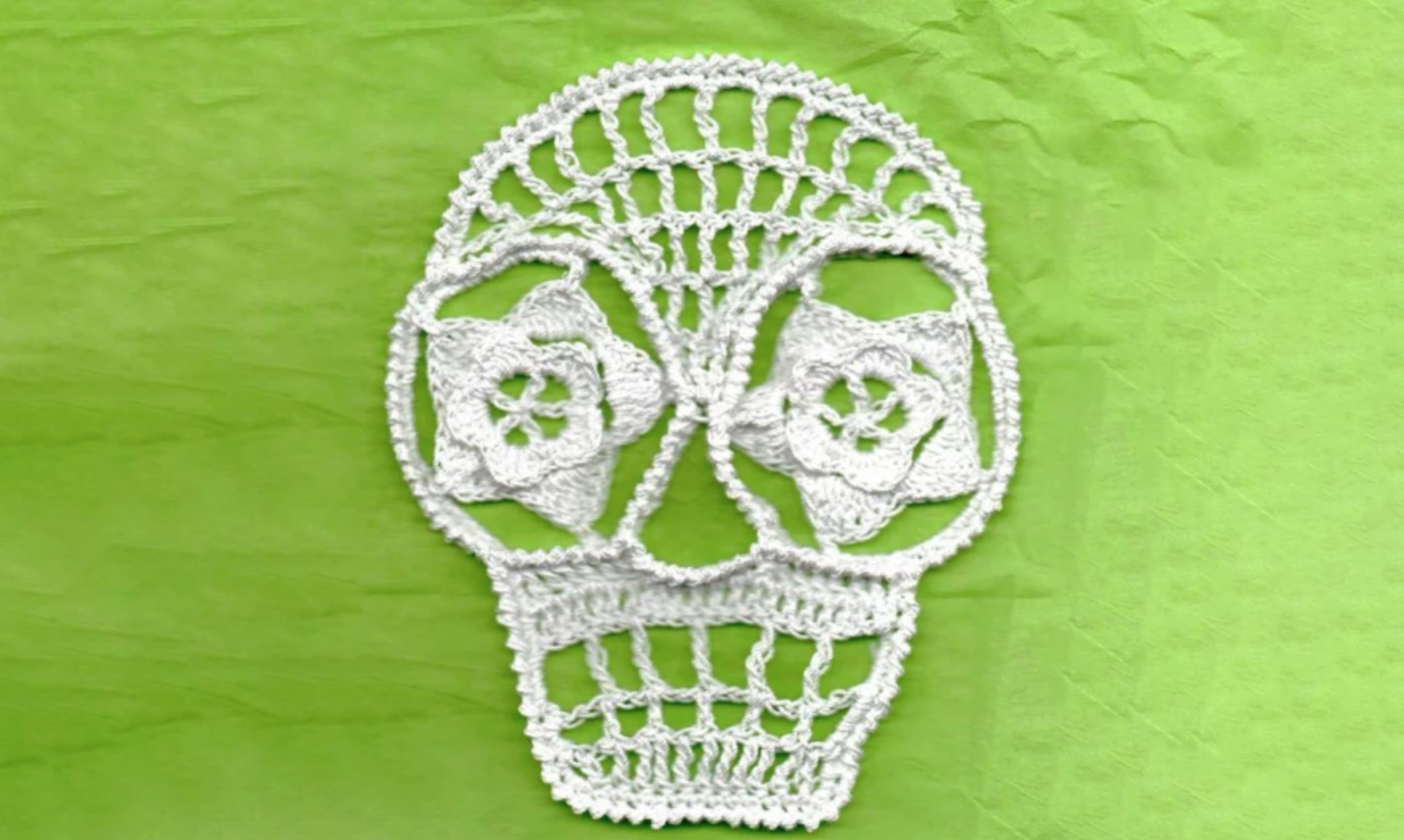 crochet lace skull