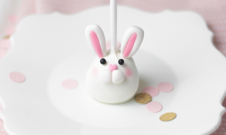 bunny easter cake pop