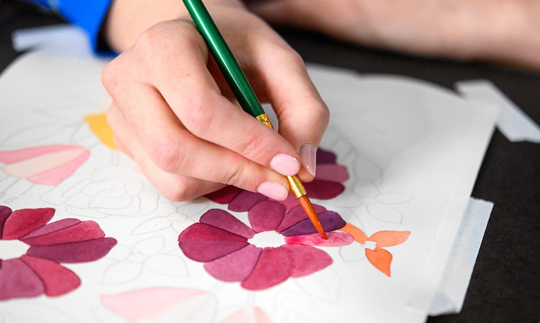 painting gouache flowers