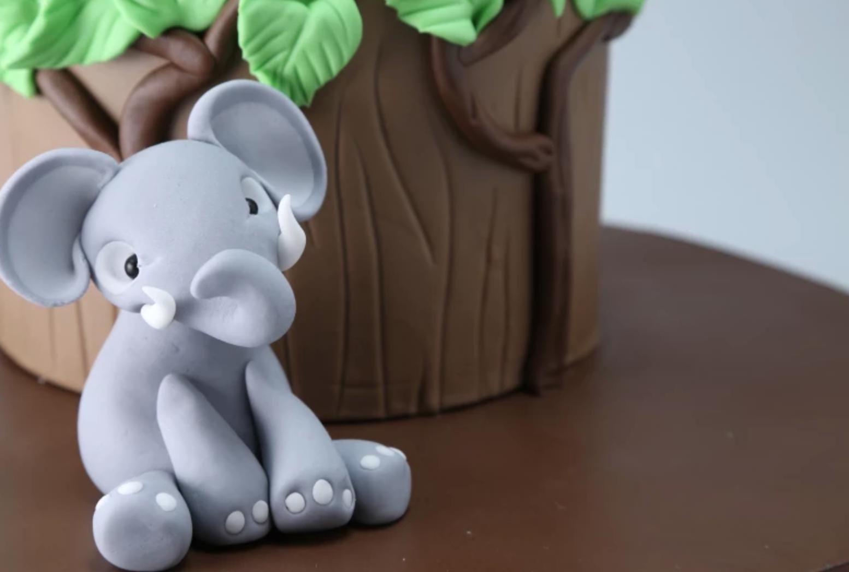 elephant fondant topper