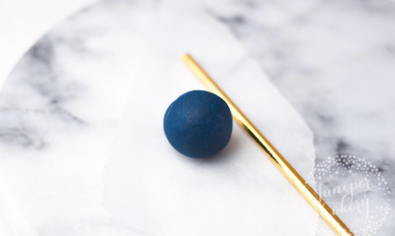 ball of blue cake dough