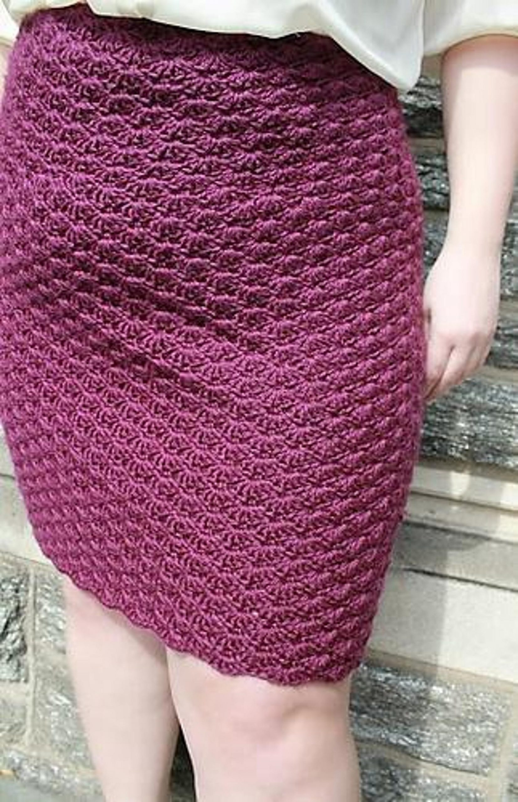 Plus-Size Shell Skirt