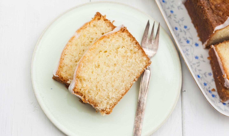 lemon loaf on plate