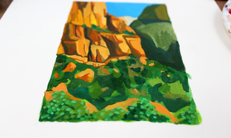 gouache landscape