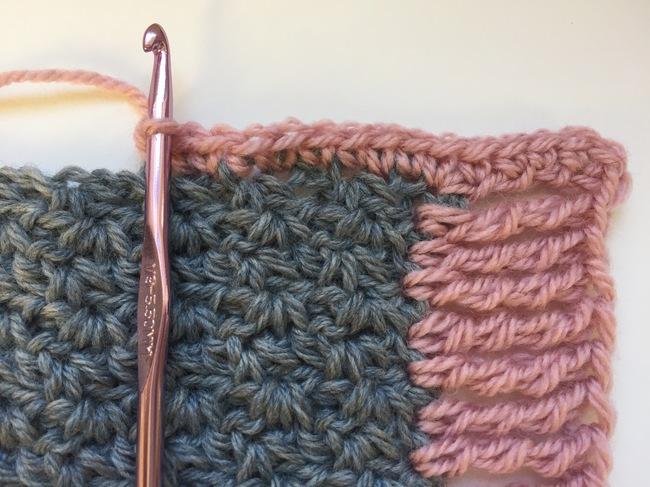 crocheting wattle stitch bib border