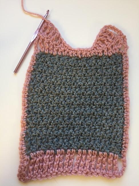 crocheting bib top