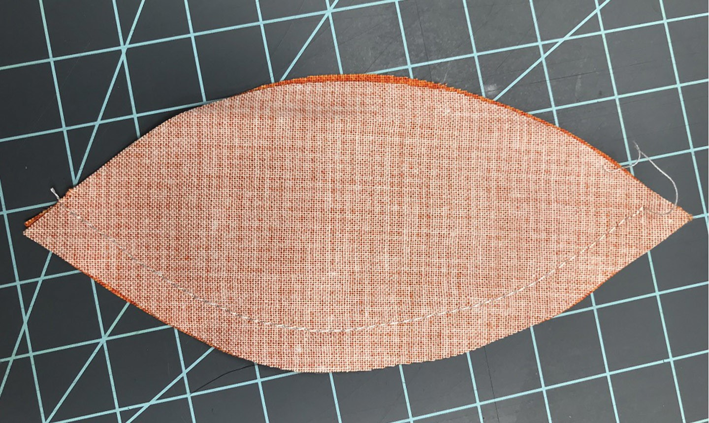 Back of fabric pattern