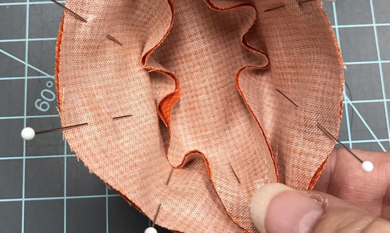 Pinned fabric cutouts